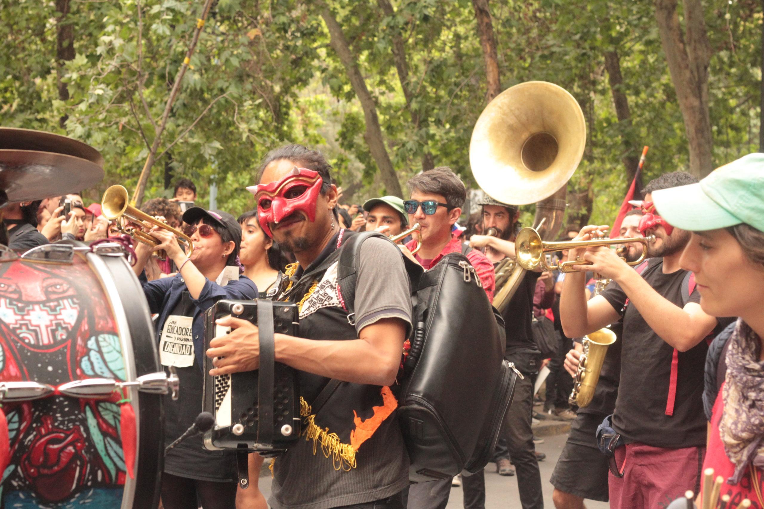 Cile manifestanti