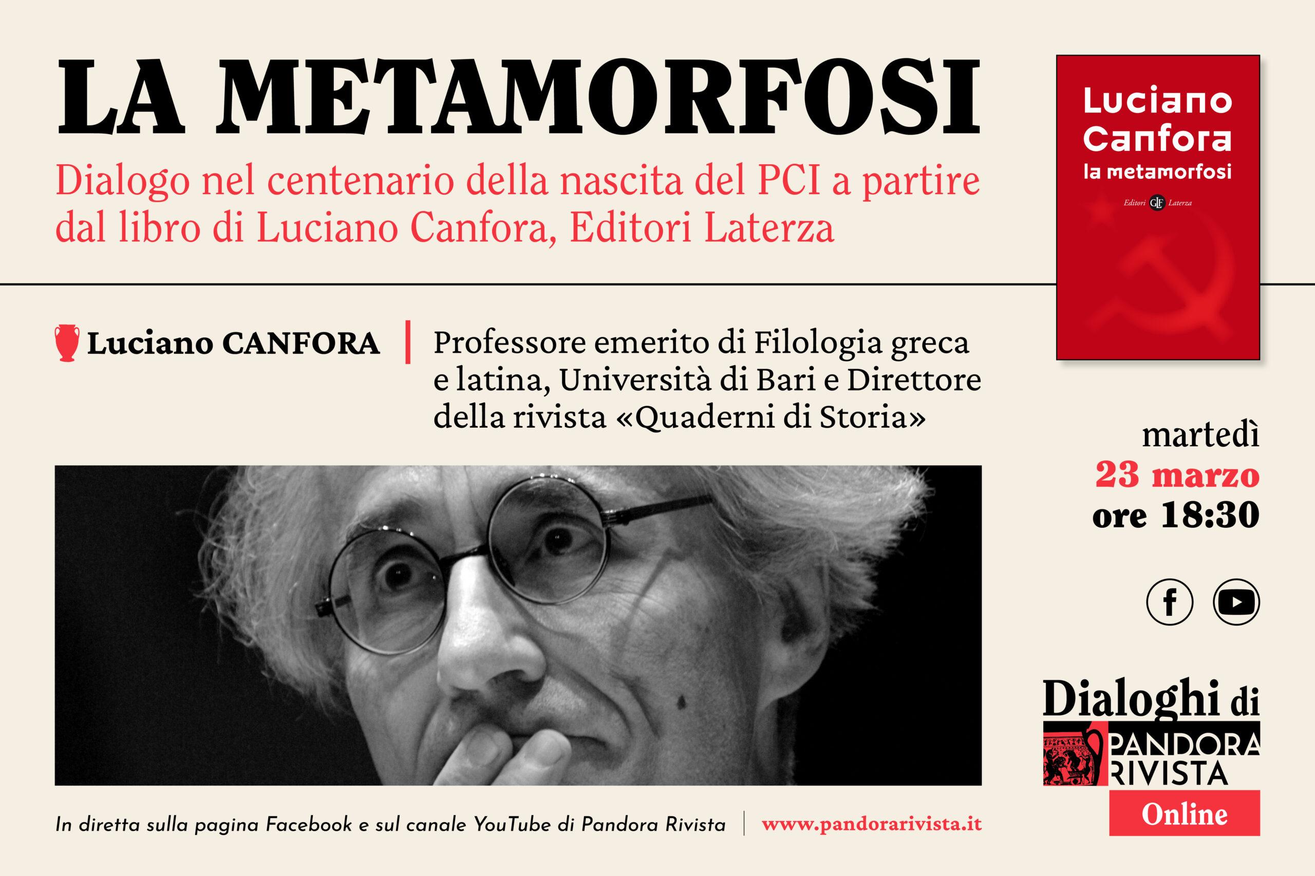 Luciano Canfora ai Dialoghi di Pandora Rivista